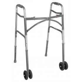 Bariatric Aluminum Folding Walker, Two Button (Drive)