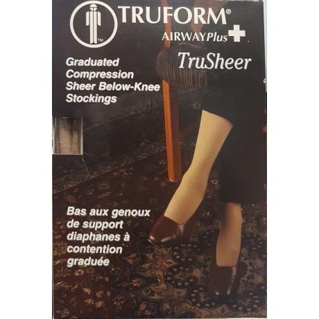 4bb8e6c3933 TruSheer Knee Length Stockings   20-30 mmHg (TRUFORM) - Surguin