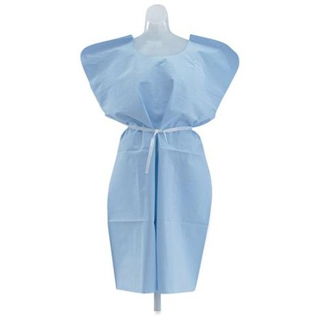 Paper Exam Gown 30″ X 42″ 3PLY TISSUE/POLY/TISSUE