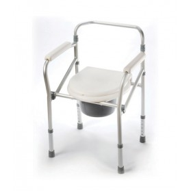 Aluminum Folding Commode: