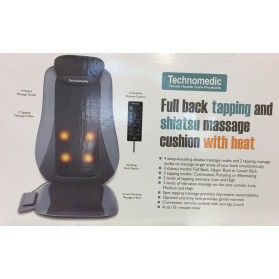 Shiatsu Massage Cushion with heat & Full Back Tapping