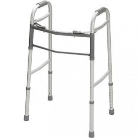 Walker Two- Button Folding Adjustable w/o Wheels Adult