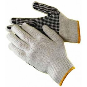 String Knit Glove With PVC Dots (One Side)