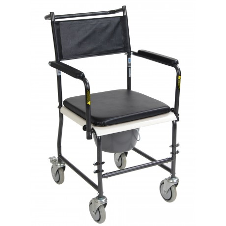 Portable Commode with Wheels and Drop-Arm- Drive