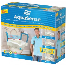 AquaSense 3-in-1 Contoured Raised Toilet Seat