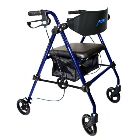 "Aluminum Folding Rollator 8"" Wheels-Blue"
