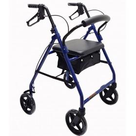"Economy Aluminum Rollator w/8"" Wheels- Blue"