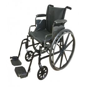 """Lightweight Steel Wheelchair 18"""" Wide"""