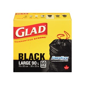 Black Garbage Bags With Draw String Heavy Duty 90L- 60 Bags/ Box