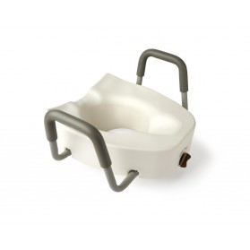 Elevated Locking Raised Toilet Seat With Removable Arms