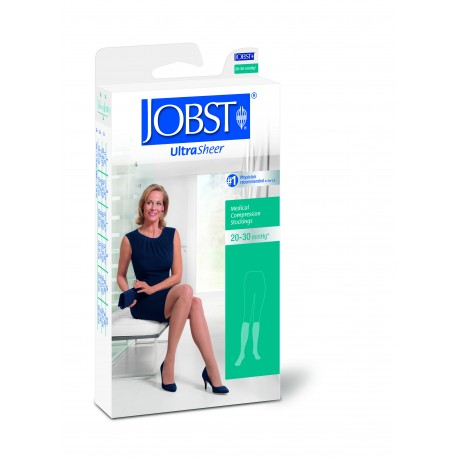 JOBST Ultrasheer 20-30 mmHg Thigh High Closed Toe Dot Band