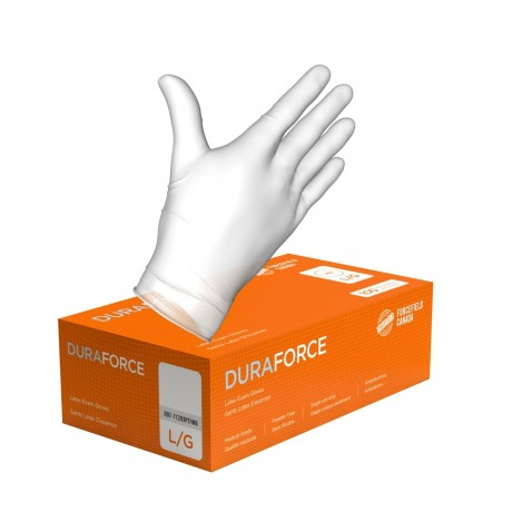 Duraforce Latex Disposable Powder Free Examination Gloves (Forcefield) 100/BOX