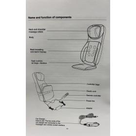 Back. Neck and Shoulder Shiatsu Massage Cushion With Seat Vibration