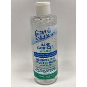 Hand Sanitizer With Aloe Germ Solutions- 8oz (236mL)- Made In Canada