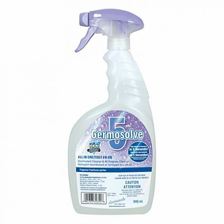 Germosolve 5 Natural Disinfectant Cleaner Spray - Fragrance Free (946 mL)