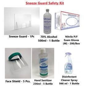 Sneeze Guard Safety Kit