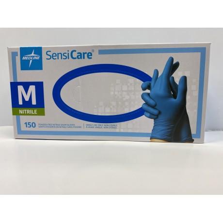 SensiCare Powder-Free Nitrile Exam Gloves (Size - M)