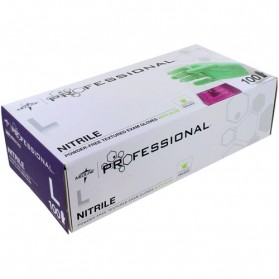 Professional Nitrile Powder-Free Exam Gloves with Aloe (Size-L)