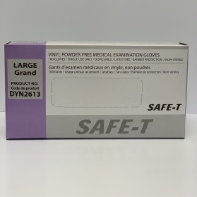 Examination Vinyl Powder-Free Gloves (Latex-Free)- 100/Box