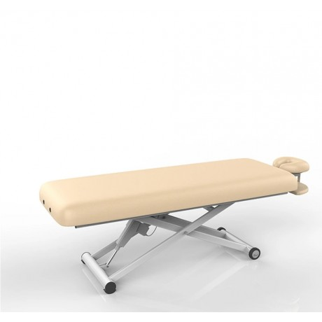 Massage Table Flat With Foot Remote (Beige)