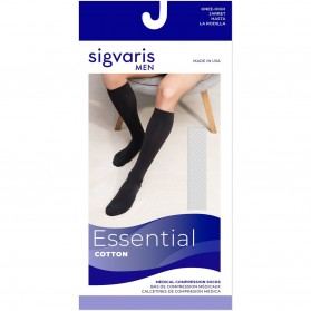 Sigvaris 230 Cotton Knee High Closed Toe For Men & Women 20-30 mmHg