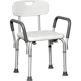 Deluxe Shower Chair with Back and Padded Arms