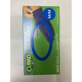 Curad Nitrile Gloves, Medium - 300/box