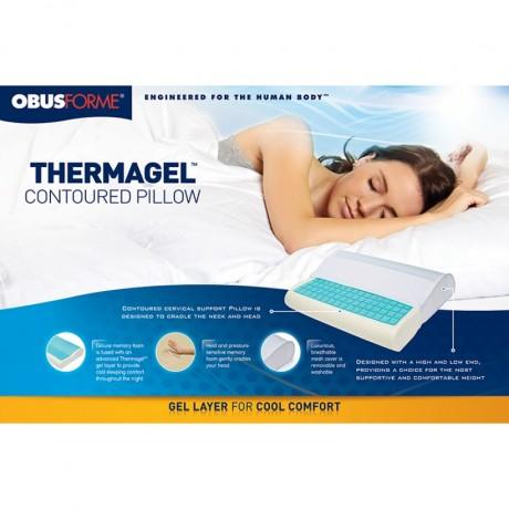 thermagel memory foam contour pillow